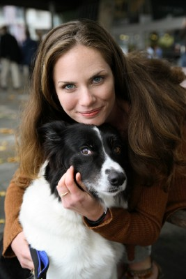 woman-with-dog